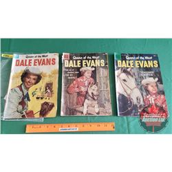 DALE EVANS – DELL (3): Little Dog Lost #3 c.1954; The Sky Raiders #15 c.1957; Stagecoach to Nowhere
