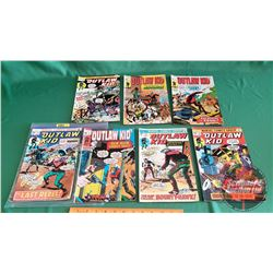 THE OUTLAW KID – MARVEL COMICS (7): Scourge of the Plains #7 c.1971 ; Hostage #1 c.1970 ; Empty Hols