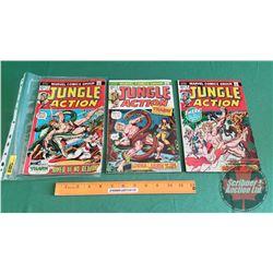 JUNGLE ACTION – MARVEL COMICS (3): The River of No Return #2 c.1972 ; Jann of the Jungle #3 c.1972 ;
