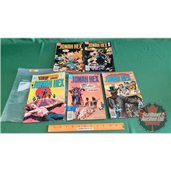 HONAH HEX – DC COMICS (5):  Stagecoach to Oblivion #28 c.1975 ; The Carlota Conspiracy #9 c.1977 ; S