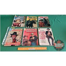 "WESTERN COMICS – DELL (6) : The Legend of Custer #1 c.1968 ; Wyatt Earp ""Tin Star Trouble"" #890 c.19"
