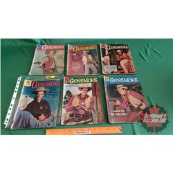 GUNSMOKE – DELL COMICS (6) : The Water Diviner #24 c.1960; Man Without a Gun #9 c.1958; The Taming o