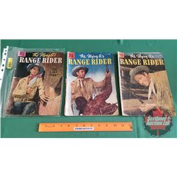 THE FLYING A's RANGE RIDER – DELL COMICS (3) : The Lost Tribe #22 c.1958; Thirst for Revenge #12 c.1