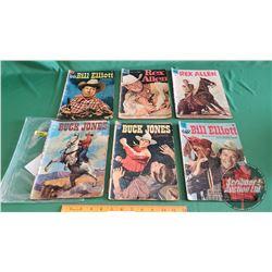 "WESTERN COMICS  - DELL (6) : REX ALLEN ""Blueprint For Disaster"" #20 c.1956 ; REX ALLEN ""Missing Sadd"