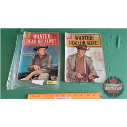 WANTED DEAD OR ALIVE! - COMIC BOOKS (2): Payment Delayed #1102 c.1960 ; The Carved Bullet #1164 c.19