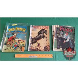COMIC BOOKS – DELL c. 1940's-1950's (3): M.G.M.'s GYPSY COLT c.1954 ; RED RYDER #77 c. 1949 (Cdn Edi
