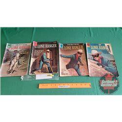 THE LONE RANGER – DELL COMICS (4): The Perfect Ambush #133 c.1960; The Boomerang Trap #142 c.1960; T