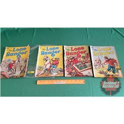 THE LONE RANGER – DELL COMICS (Canadian Edition c. 1940's) (4): and the Bank Hold Up #12 c.1949; and