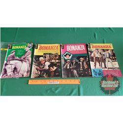 BONANZA – GOLD KEY (4): Hank Garvey's Way #37 c. 1970; The Money Makers #11 c.1964; The Sleeping Gia