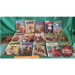 GENE AUTRY – DELL COMICS – Canadian Editions (16): Outlaw Gold #33 c.1949 ; Secret of Naranjal #30 c