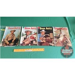 GENE AUTRY – DELL COMICS (4) : The Terrible Turk #85 c.1954 ; The Man From Jackrabbit Hill #94 c.195