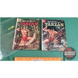 TARZAN – DELL COMICS (2): and The Horned Men #111 c.1959; Challenges the Ape King #117 c.1960 (Pleas