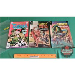"Comic Books (3): Gold Key - Turok Son of Stone ""Terror of the Dream"" #62 c.1968; Gold Key – Korak So"