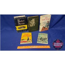 """Stories of the North Books (5): Story of Captain Joseph Bernier """"The True North"""" + 4 Books by Robert"""