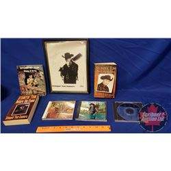 Stompin' Tom Collector Combo: 3 Books, 3 CD's, 1 Autographed Framed Picture