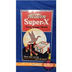 """Repro Enamel Single Sided """"Western Super-X Long Range Shells"""" (14-3/4"""" x 9"""")"""