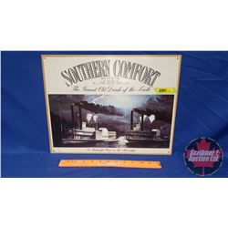 """Repro Single Sided Tin Sign """"Southern Comfort"""" (12-1/2"""" x 16"""")"""