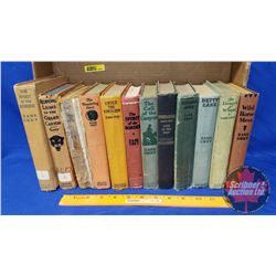 Zane Grey Hardcover Book Collection (12) (Early Editions - See Pics !)