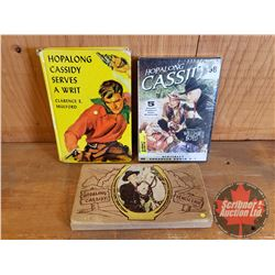 Hopalong Cassidy Collector Combo: Hardcover Book, Vintage Pencil Case w/Contents, DVD (5 Classic Fea