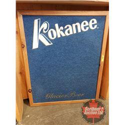 """Kokanee Beer (Pin up / Tack Board) Sign (35"""" x 29"""")"""