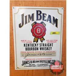 "Repro / Man Cave Single Sided Tin Sign ""Jim Beam"" (16"" x 12-1/2"")"