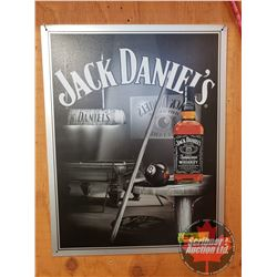 "Repro / Man Cave Single Sided Tin Sign ""Jack Daniel's"" (16"" x 12-1/2"")"