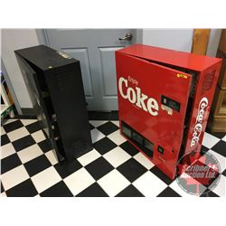 2 Wall Mount Vending Machines (POP) Refrigerated (No Coin Mech's - Need TLC) (See Pics for Types)