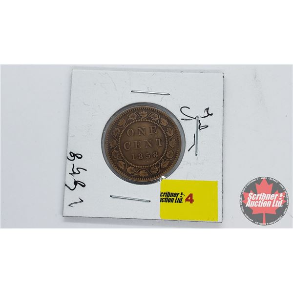 Canada One Cent 1858