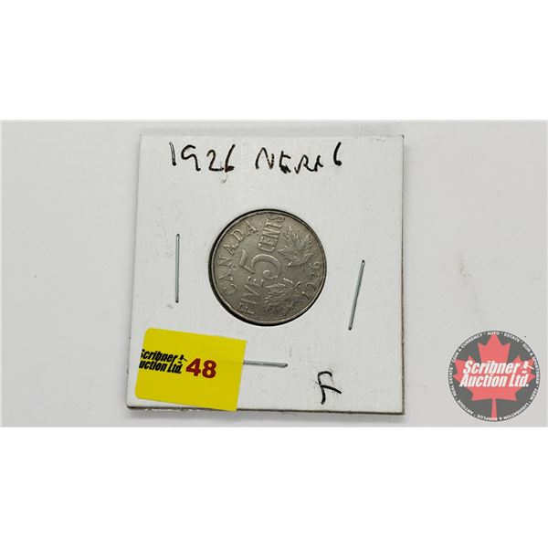 Canada Five Cent 1926 Near