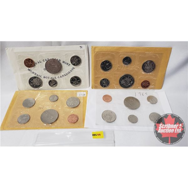 Canada RCM Uncirculated Sets (4): 1968; 1969; 1970; 1971