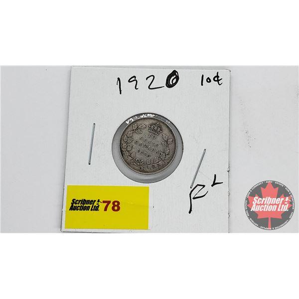 Canada Ten Cent 1920