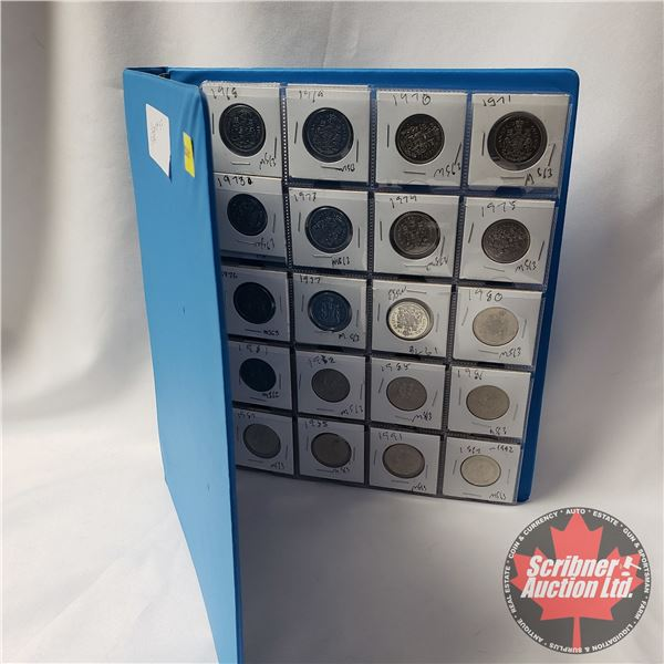 Canada Fifty Cent - Binder Lot (42 Coins): 1968; 1969; 1970; 1971; 1973; 1973; 1974; 1975; 1976; 197