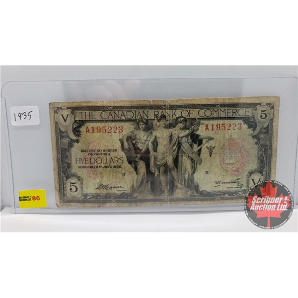 The Canadian Bank of Commerce $5 Bill 1935