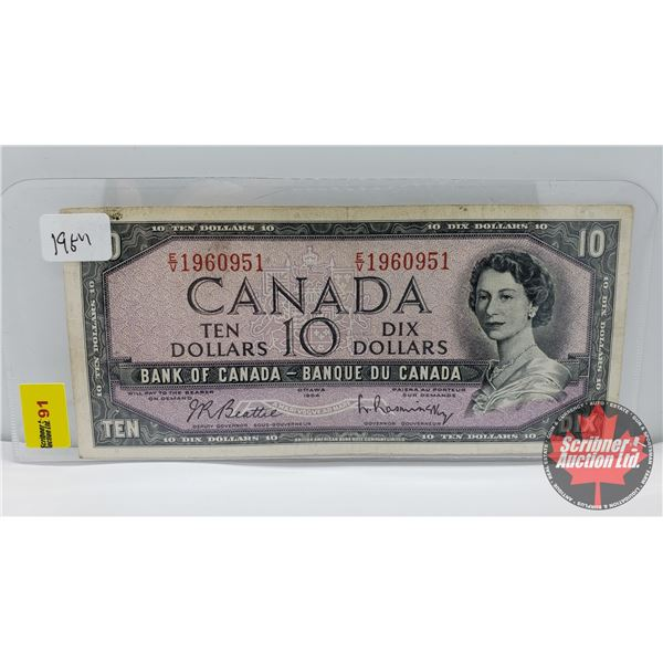 Canada $10 Bill 1954 : Beattie/Rasminsky EV1960951