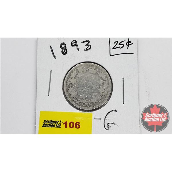 Canada Twenty Five Cent 1893