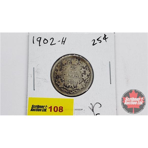Canada Twenty Five Cent 1902H