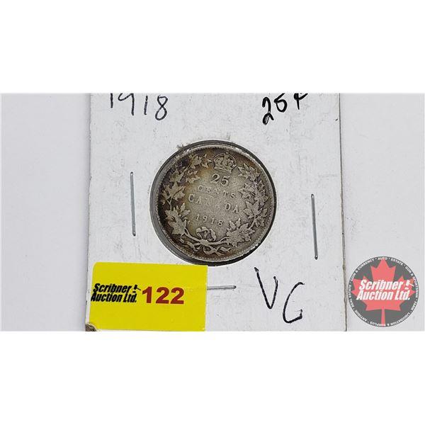 Canada Twenty Five Cent 1918