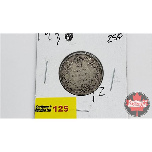 Canada Twenty Five Cent 1930