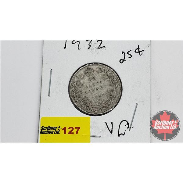 Canada Twenty Five Cent 1932