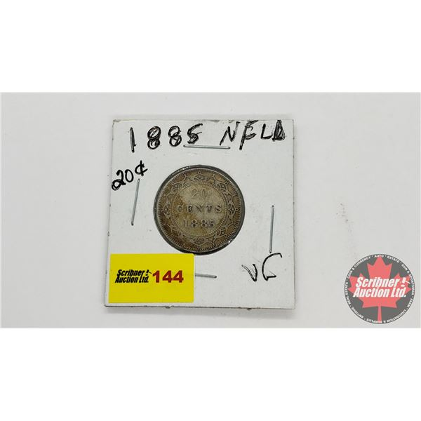 Newfoundland Twenty Cent 1885