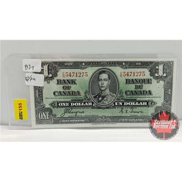 Bank of Canada $1 Bill 1937 : Coyne/Towers CN5471275