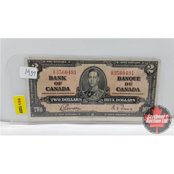 Bank of Canada $2 Bill 1937 : Gordon/Towers UB3560491