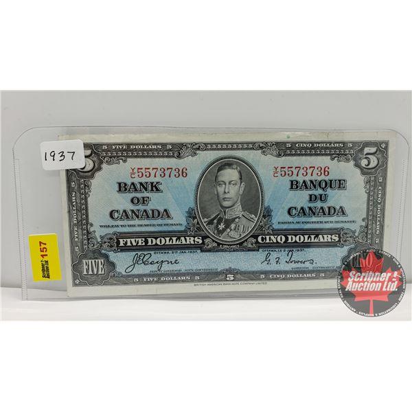 Bank of Canada $5 Bill 1937 : Coyne/Towers YC5573736