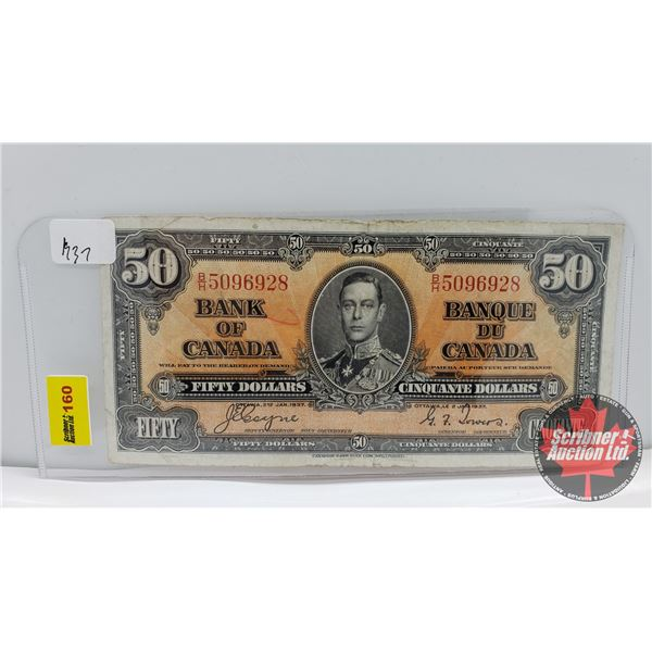 Bank of Canada $50 Bill 1937 : Coyne/Towers BH5096928