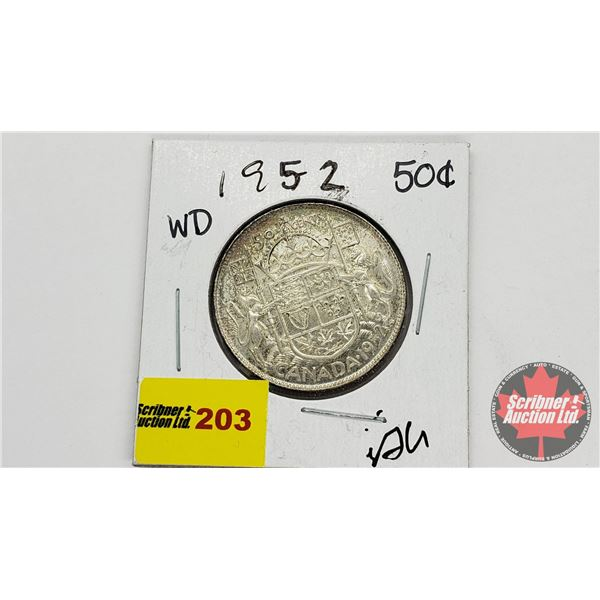 Canada Fifty Cent 1952 WD