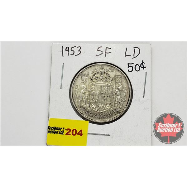 Canada Fifty Cent 1953 SF LD