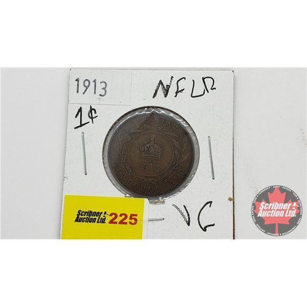 Newfoundland One Cent 1913