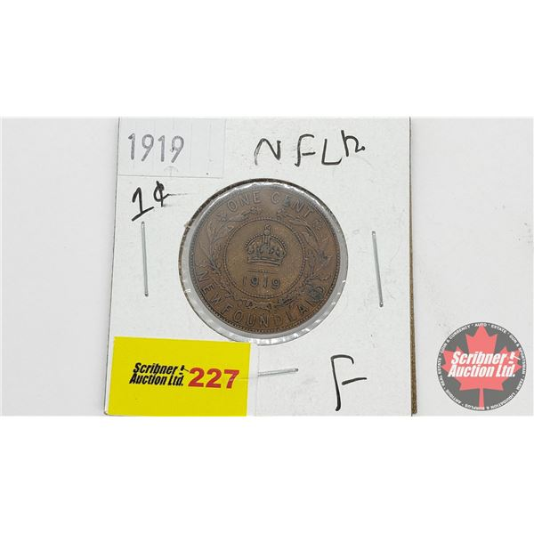 Newfoundland One Cent 1919
