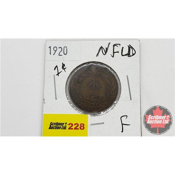 Newfoundland One Cent 1920