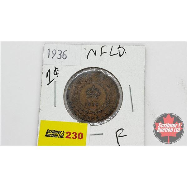 Newfoundland One Cent 1936